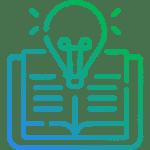 Book lightbulb icon